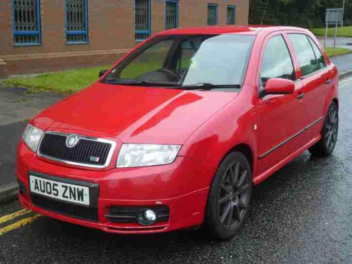 skoda 2005 fabia vrs tdi pd 130 red car for sale. Black Bedroom Furniture Sets. Home Design Ideas