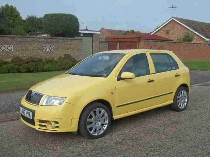 skoda 2005 fabia vrs tdi pd130 05 reg 6 speed manual runs drives. Black Bedroom Furniture Sets. Home Design Ideas