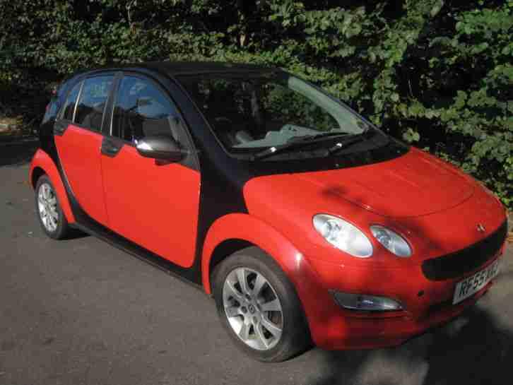 smart 2005 forfour coolstyle black red car for sale. Black Bedroom Furniture Sets. Home Design Ideas