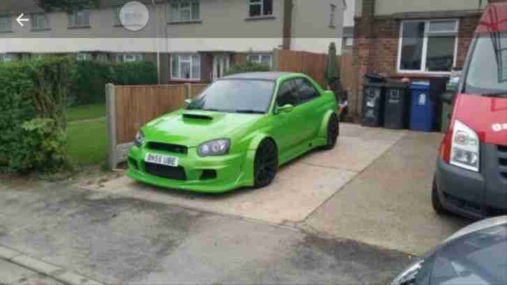 2005 IMPREZA WRX STI TYPE UK GREEN