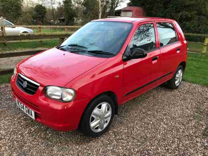 2005 ALTO GL RED £30 ROAD TAX LOW MILEAGE BARGAIN CHEAP. car for sale