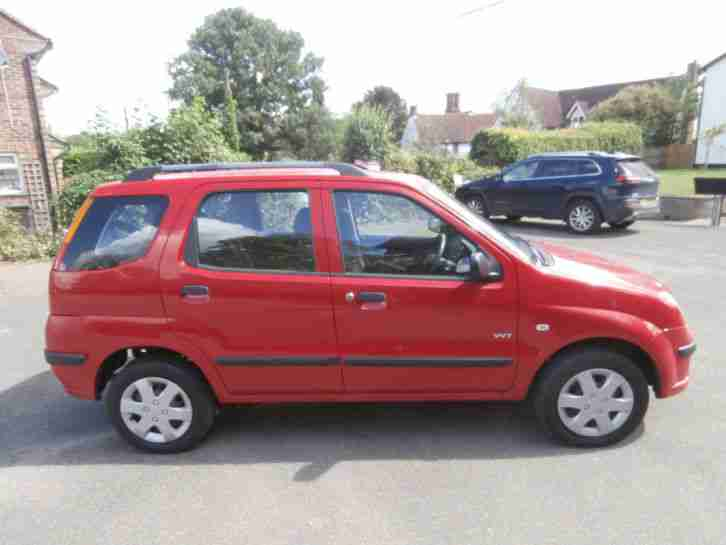 2005 SUZUKI IGNIS GL RED,AUTOMATIC ,5 DOOR,ONE OWNER,LONG MOT,ONLY 36000 MILES