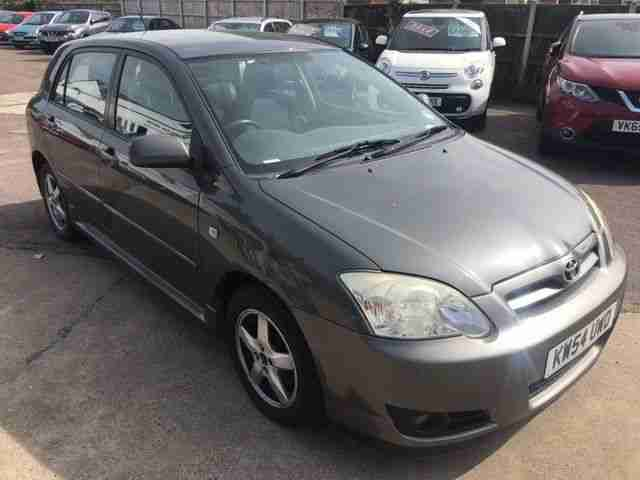 2005 TOYOTA COROLLA 1.6 VVTI T3 5DR, MET GREY, MOT MARCH 2019, NO RESERVE