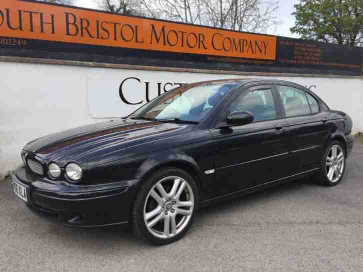 2006 06 JAGUAR X TYPE 2.2D SPORT MANUAL SALOON 126K MET BLACK