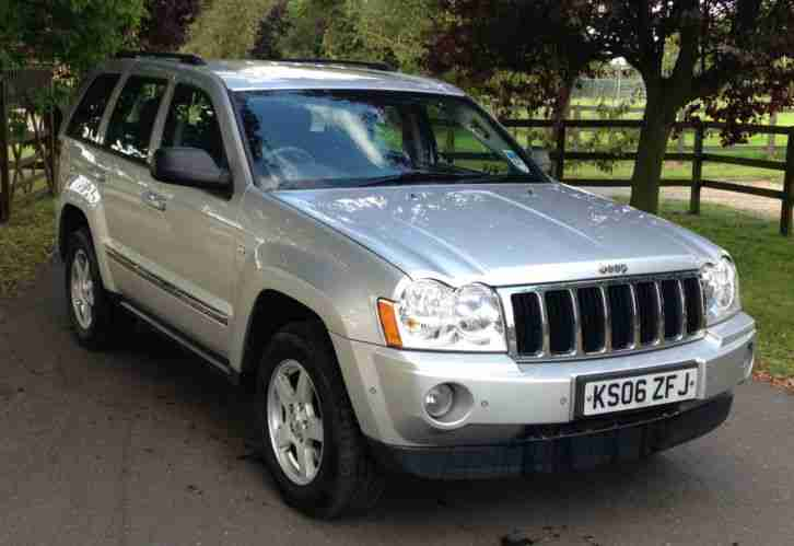 2006 06 Jeep Grand Cherokee 3.0CRD V6 auto Limited NEW SHAPE FSH SILVER MET 92K