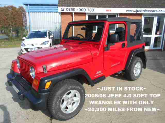 jeep 2006 06 wrangler 4 0 sport soft top 6 speed manual. Black Bedroom Furniture Sets. Home Design Ideas