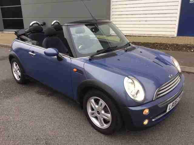 mini 2006 06 cooper 1 6 convertible blue face lift very low miles 60k. Black Bedroom Furniture Sets. Home Design Ideas