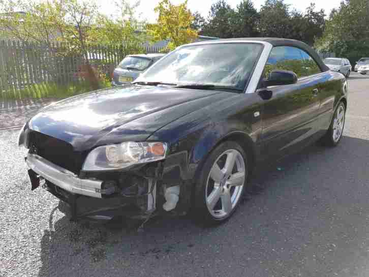 2006 06 REG AUDI A4 CABRIOLET 1.8 TURBO S LINE LIGHT DAMAGED REPAIRABLE SALVAGE