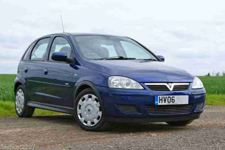 2006 06 VAUXHALL CORSA 1.4i 16V DESIGN 5DR AUTOMATIC WITH AIR CON MET BLUE