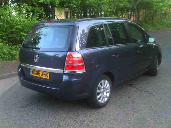 2006 06 VAUXHALL ZAFIRA CLUB 7 SEATER MPV VERY LOW MILES (FACELIFT MODEL)