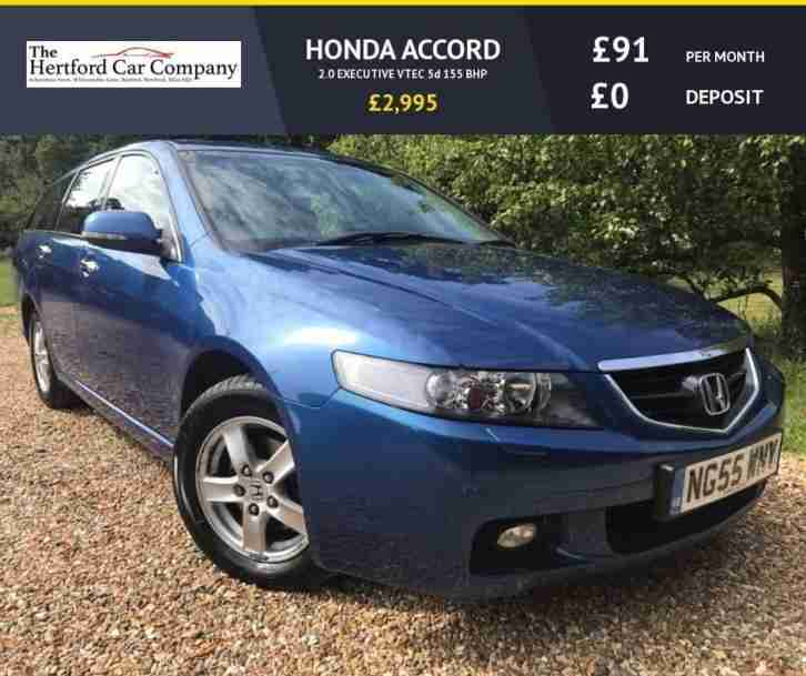 2006 55 HONDA ACCORD 2.0 EXECUTIVE VTEC 5D 155 BHP