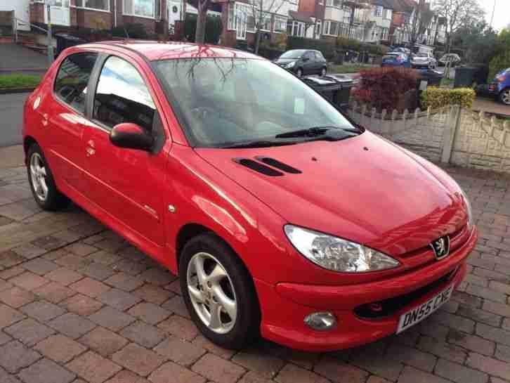 peugeot 2006 55 plate 206 1 6 sport red full mot 68k excellent car for sale. Black Bedroom Furniture Sets. Home Design Ideas