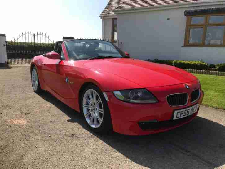 2006 56 BMW Z4 SPORT CONVERTIBLE 2.0 PETROL 90K MILES RED MOT MARCH 2019
