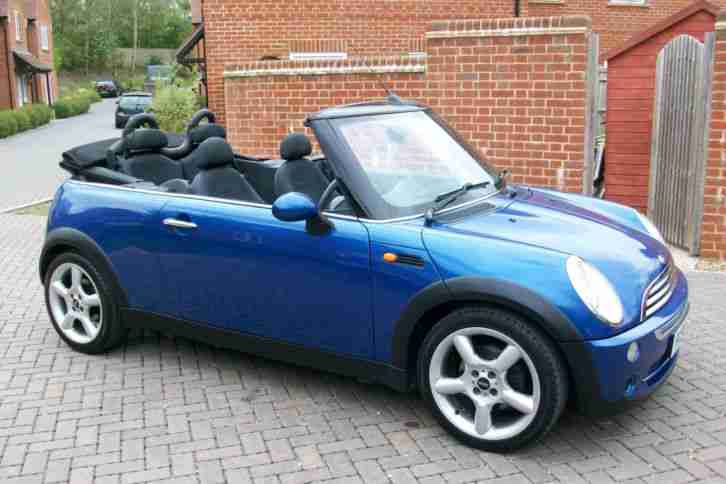 Mini 2006 56 Cooper Convertible Cabriolet Hyper Blue Car