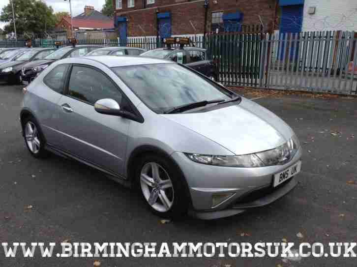 2006 (56 Reg) Honda Civic 1.8 VTEC TYPE S 3DR Hatchback SILVER + LONG MOT