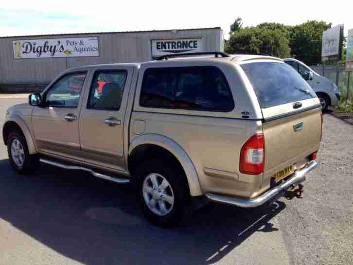 2006 56 Reg ISUZU RODEO DENVER MAX 4X4 Double Cab Pick Up, with hardtop / canopy