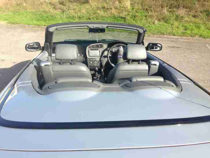 2006 (56) SAAB 9-3 VECTOR SPORT SILVER Convertible 2.0T 230BHP Stage 1 MANY FACT