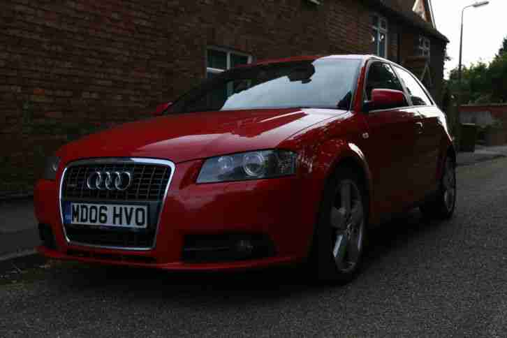 2006 AUDI A3 S LINE TDI 170 RED
