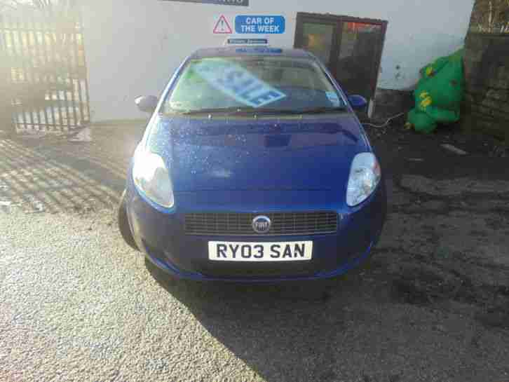 2006 FIAT GRANDE PUNTO BLUE PRIVATE PLATE INCLUDED ON SALE FROM £500 POSS PX ?