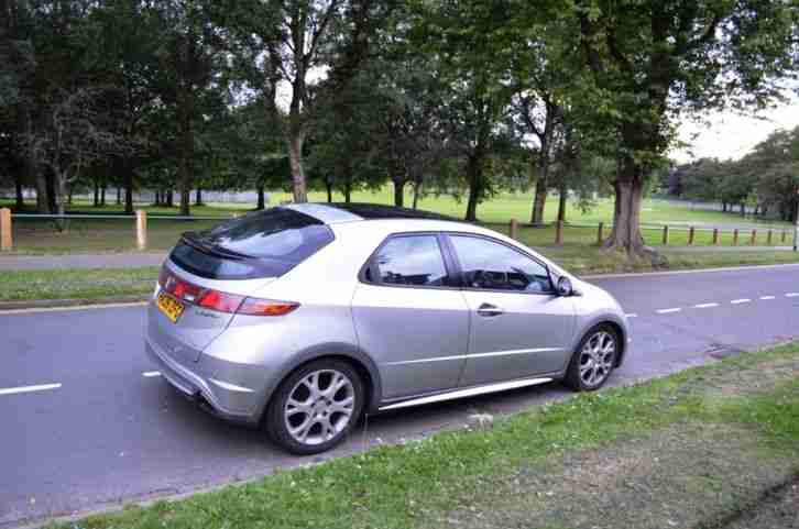 honda 2006 civic es i ctdi silver 5 door fsh vgc panoramic roof. Black Bedroom Furniture Sets. Home Design Ideas
