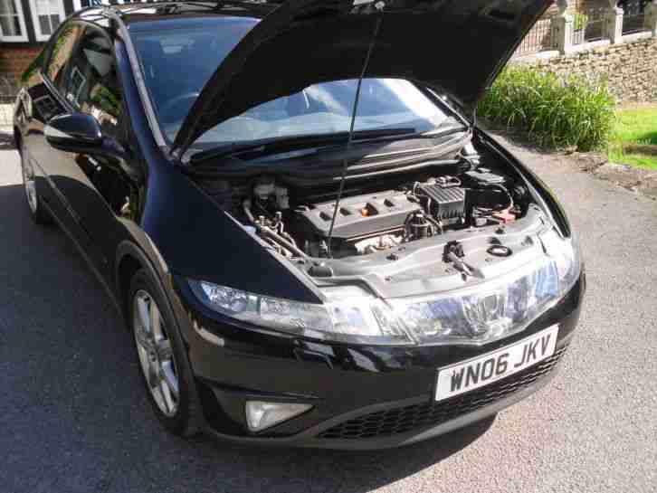 2006 HONDA CIVIC EX I-VTEC 5-door Hatchback Metallic Black