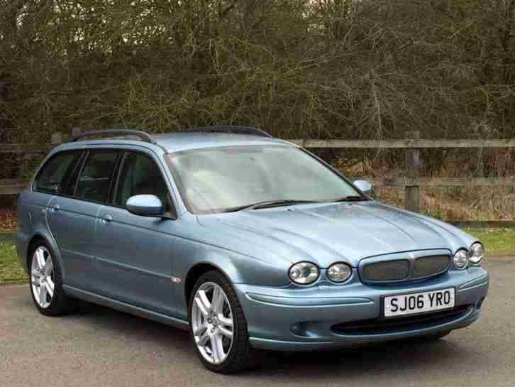 2006 JAGUAR X-TYPE SPORT 2.0 D BLUE DIESEL ESTATE LEATHER TOURING TOW BAR