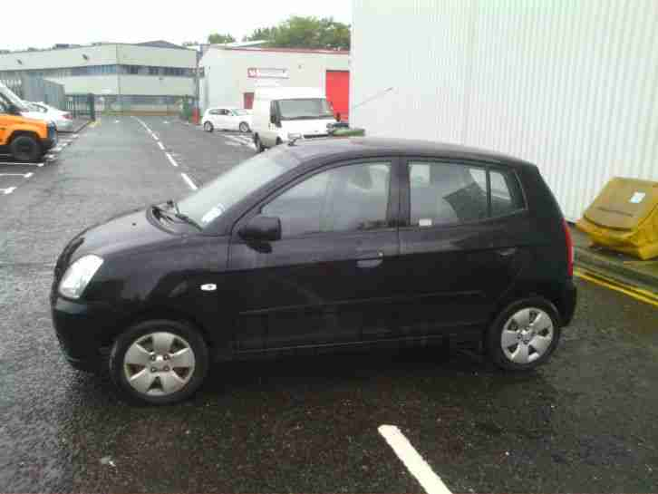 kia 2006 picanto lx black damaged repairable drive away 12 months. Black Bedroom Furniture Sets. Home Design Ideas
