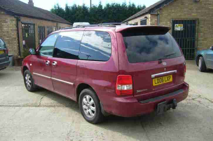 2006 Kia Sedona LE 2.9CRDi Diesel Auto in Met Red *7 Seater**Drives Very Well*