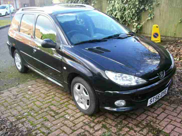 peugeot 2006 206 1 4 verve hdi sw black 30 a year road tax car for sale. Black Bedroom Furniture Sets. Home Design Ideas