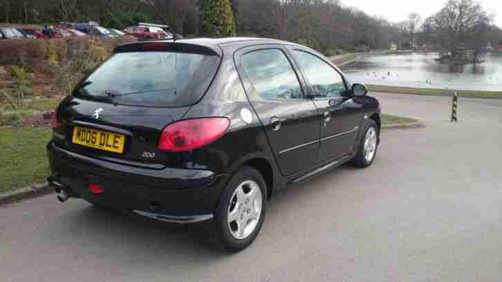 peugeot 2006 206 verve black, 1.4l 5 door, one lady owner from new
