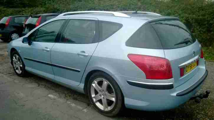 2006 PEUGEOT 407 SW SE HDI SILVER TAXED AND MOT