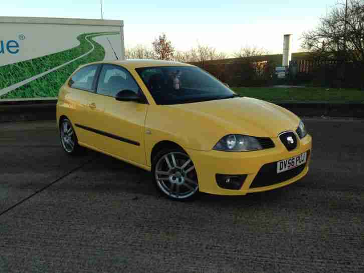 seat 2006 ibiza cupra tdi yellow car for sale. Black Bedroom Furniture Sets. Home Design Ideas
