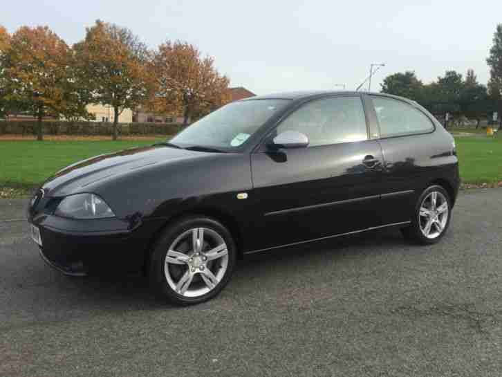 seat 2006 ibiza fr 1 9 tdi pd 130 black service history. Black Bedroom Furniture Sets. Home Design Ideas