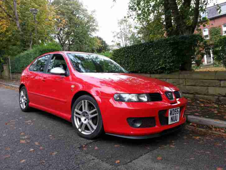 2006 SEAT LEON FR TDI RED ONE OWNER CUPRA R STYLING NEW TURBO AND CAMBELT