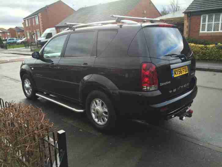 2006 SSANGYONG REXTON RX270 S BLACK DIESEL MANUAL 4 X 4 SH £1000s SPENT LEATHER