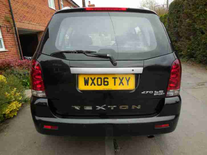 2006 SSANGYONG REXTON RX270 SE5 AUTO BLACK SAT NAV LEATHER LOW MILES