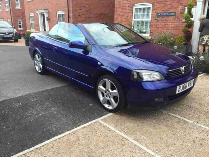 2006 vauxhall astra bertone exclusive blue 1 8 convertible 68k met. Black Bedroom Furniture Sets. Home Design Ideas