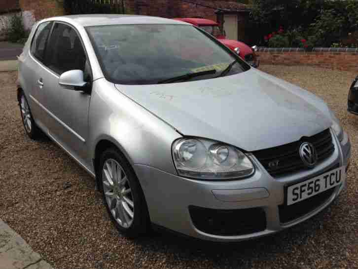 volkswagen 2006 golf mk5 gt 1 4 tsi 170bhp silver salvage car for sale. Black Bedroom Furniture Sets. Home Design Ideas