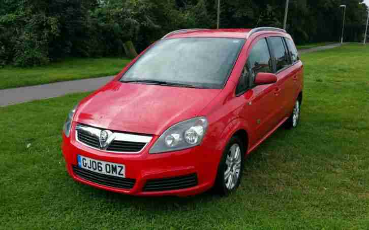 2006 Vauxhall Zafira Active 1.8L Petrol Manual 7 Seater MPV Car Long MOT 86K Red