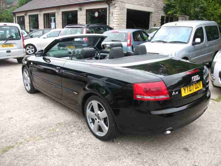 2007 07 Audi A4 Cabriolet 2.0TD S Line LEATHER TRIM