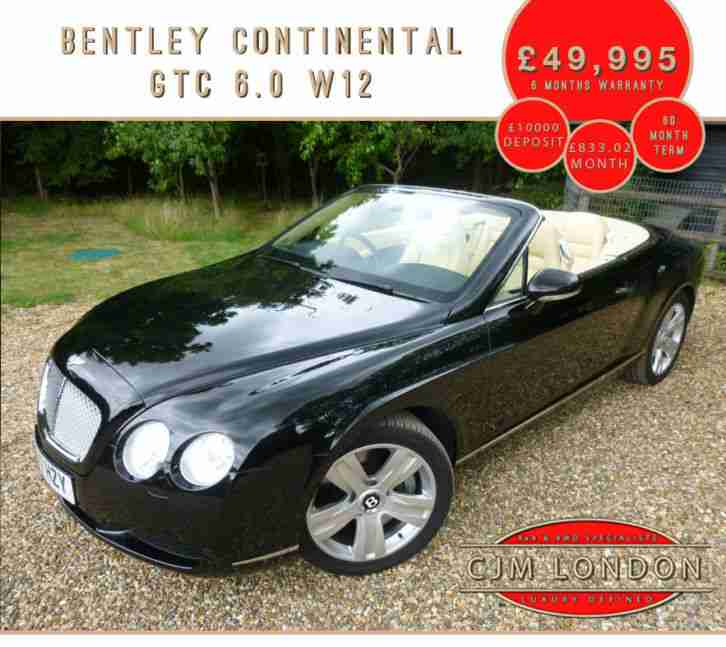 Bentley 2007 07 CONTINENTAL GTC CONVERTIBLE 6.0 W12. Car