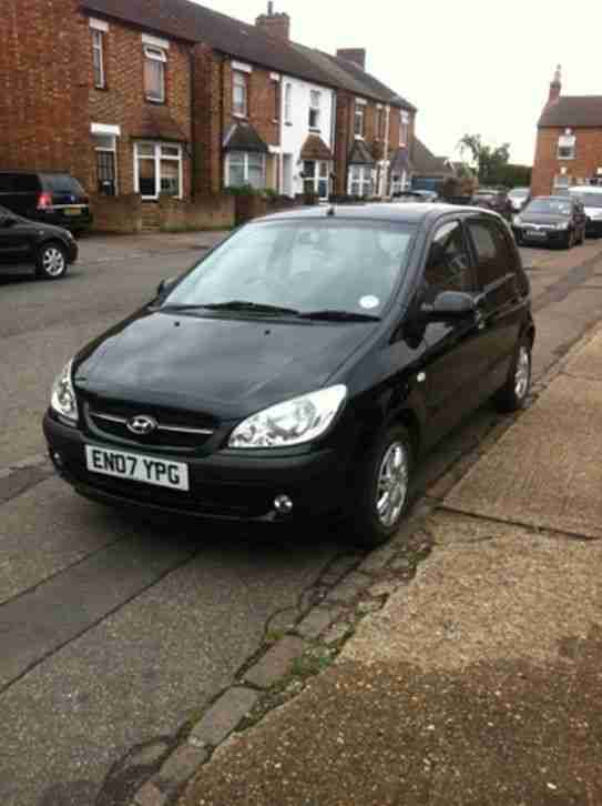 2007(07) HYUNDAI GETZ 1.4 CDX PETROL 5 DOOR HATCHBACK 5 SPEED MANUAL BLACK, AC