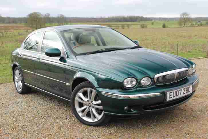 jaguar 2007 07 x type 3 0 v6 auto sovereign 57k miles racing green. Black Bedroom Furniture Sets. Home Design Ideas