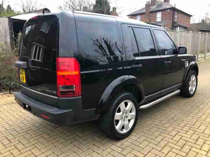 2007 (07) LAND ROVER DISCOVERY 3 2.7 TD V6 GS SUV AUTO 5 DOOR BLACK 7 SEATER