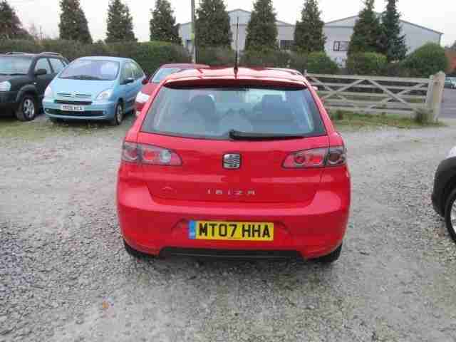 2007 07 SEAT IBIZA 1.2 REFERENCE SPORT 12V 5D ALLOYS CD LOW INSURANCE LOW TAX