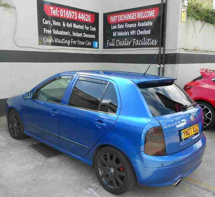 2007/07 SKODA FABIA 1.9 TDI VRS SPECIAL EDITION, WITH PERFORMANCE UPGRADES, 81K