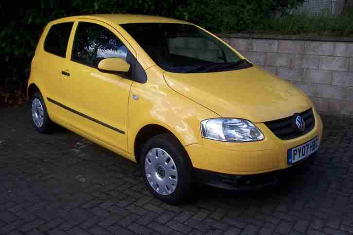 2007(07)VOLKSWAGEN URBAN FOX 1.2 3 DOOR#IMMOLA YELLOW#LOW MILES#STUNNING EXAMPLE