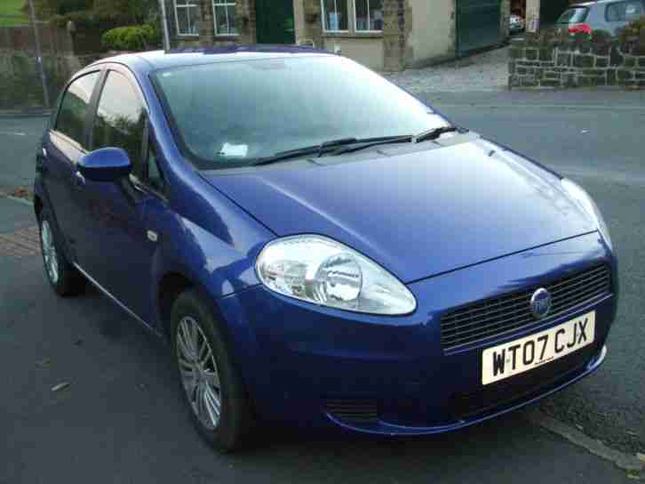 fiat 2007 07 plate grande punto 1 2 dynamic 5 dr met blue car for sale. Black Bedroom Furniture Sets. Home Design Ideas