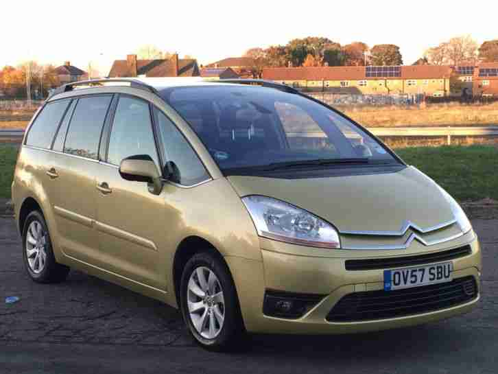 citroen 2007 57 grand c4 picasso 7 seater 1 6 exclusive hdi egs auto. Black Bedroom Furniture Sets. Home Design Ideas