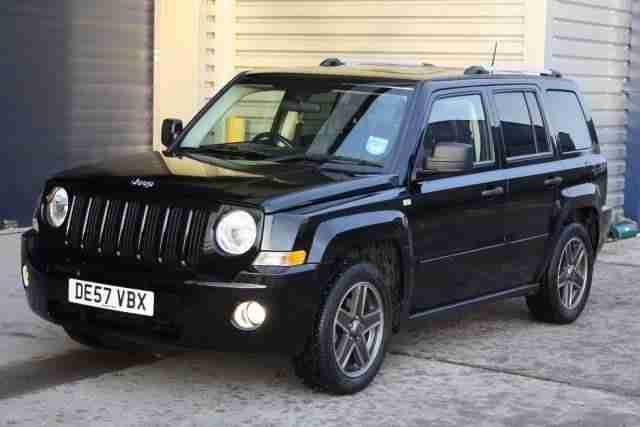 jeep 2007 57 patriot 2 0 crd limited 4x4 4wd black diesel. Black Bedroom Furniture Sets. Home Design Ideas